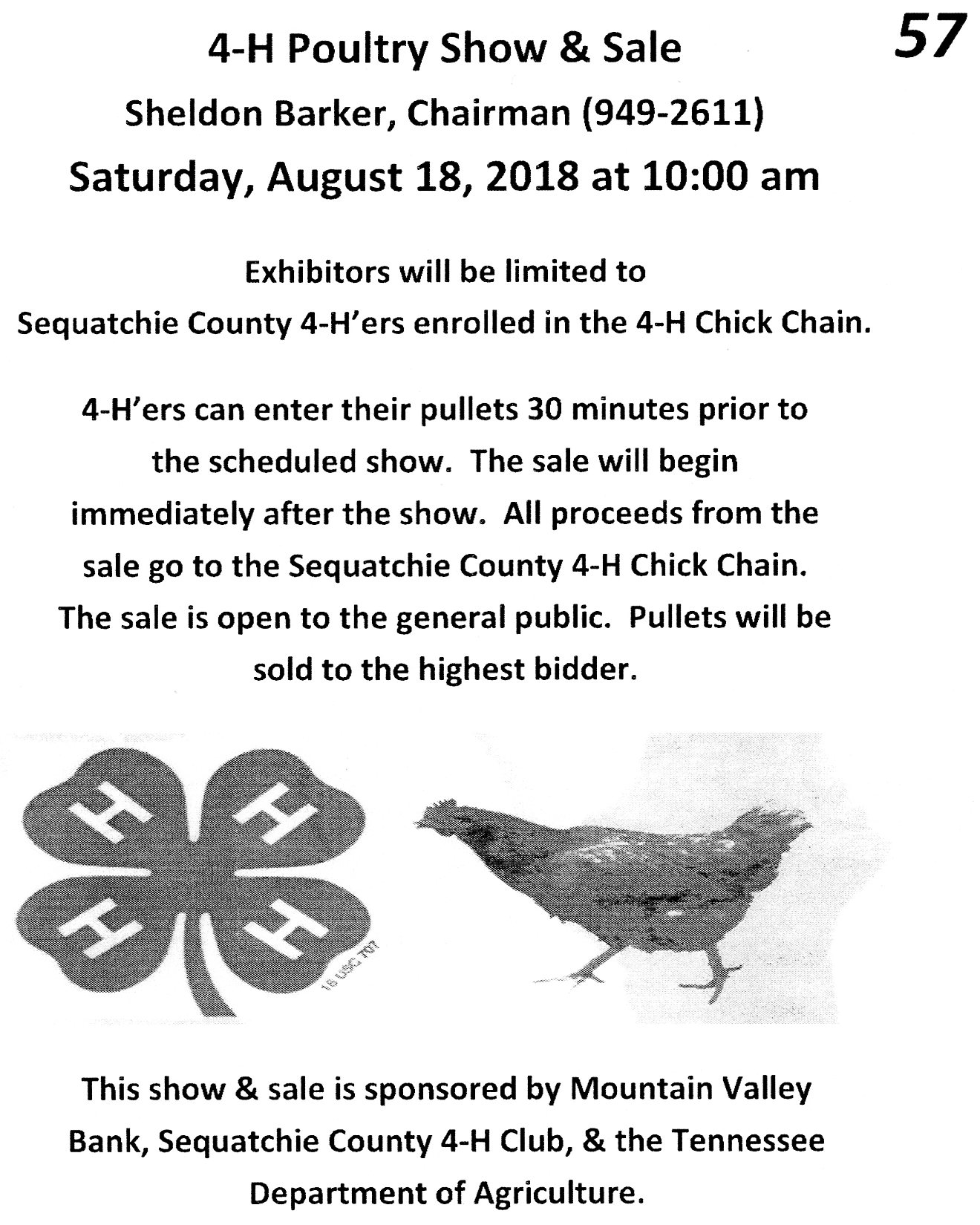 4h chicken show-sale